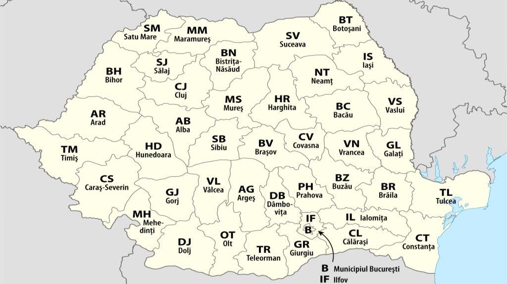 Harta Judetelor Romaniei Easysitegot