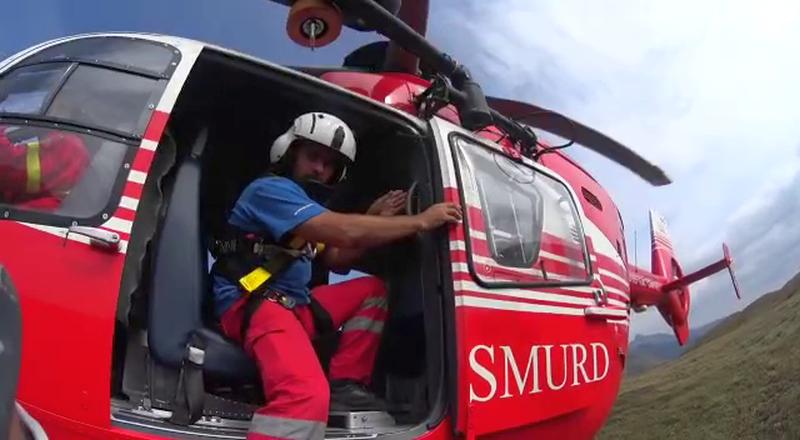 Schior accidentat grav în zona Bâlea Lac,  preluat de un elicopter și adus la spital în Sibiu