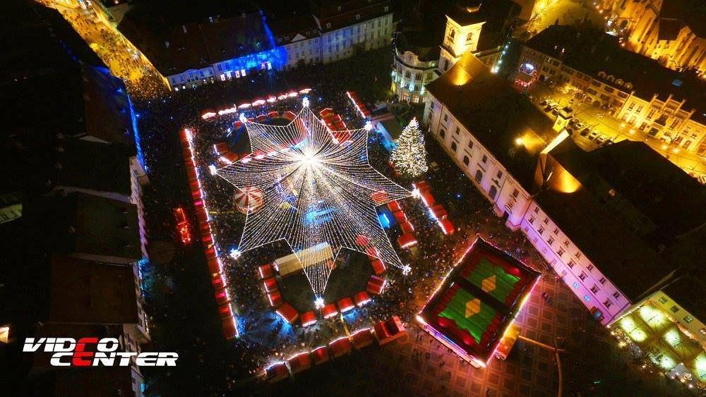 targul de craciun din sibiu foto Video Center Sibiu 1