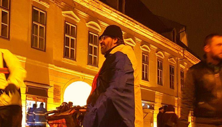 Organizatorul protestelor de la Sibiu iese și marți seară în stradă