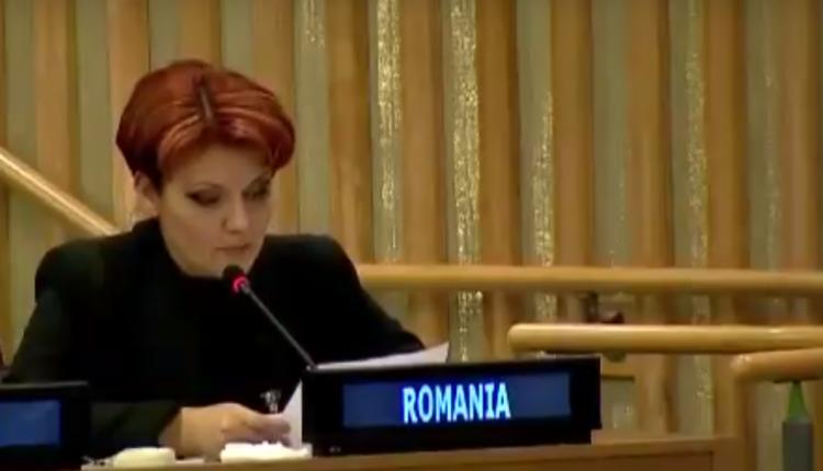 VIDEO VIRAL – Cum ne-a făcut de râs ministrul Olguța Vasilescu la ONU cu engleza ei ''de baltă''