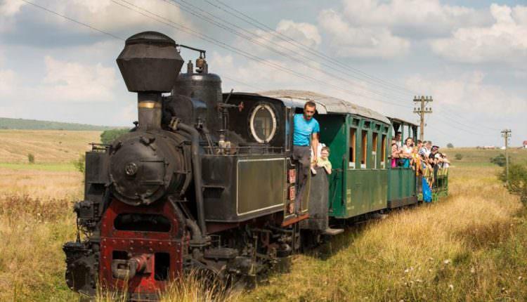 FOTO – Tren închiriat pentru plimbările cu mocănița pe Valea Hârtibciului. Vagoanele originale se restaurează