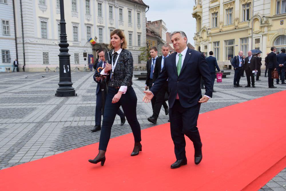 foto premier ungar viktor orban la summit sibiu