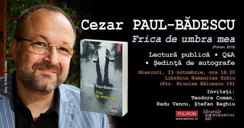 news cezar paul badescu la sibiu