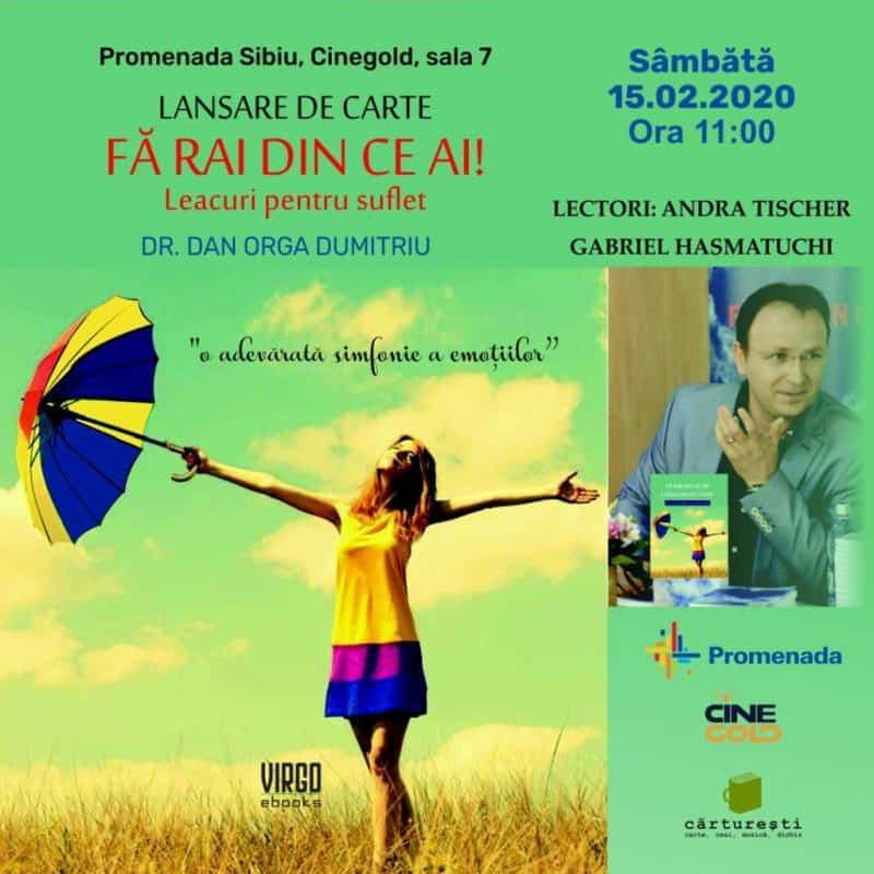 Lansare carte Promenada Sibiu