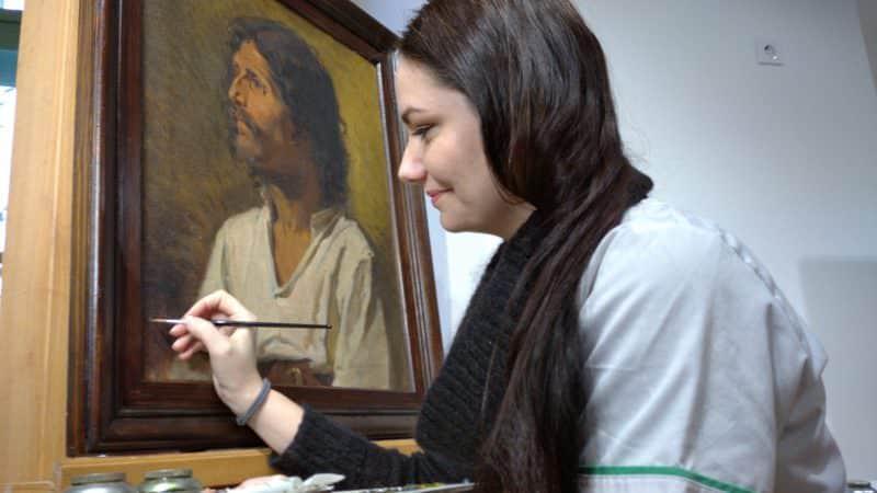 foto celestina albisor restaurator muzeul brukenthal