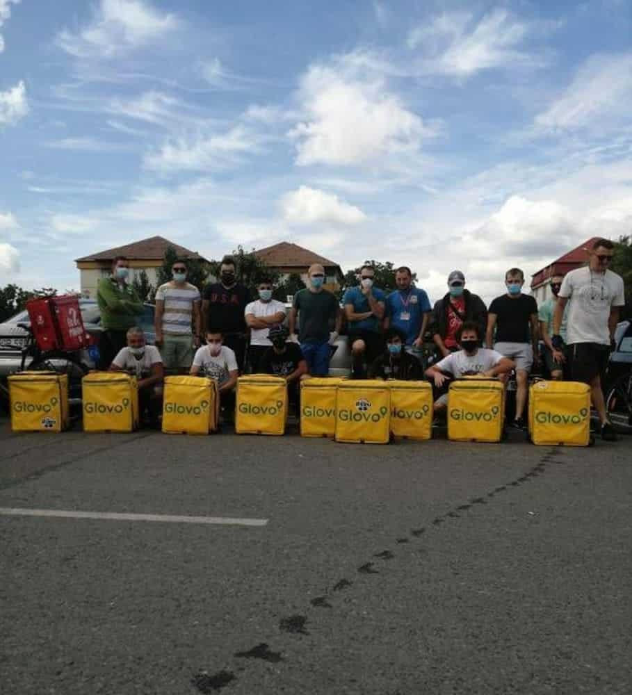 curieri glovo sibiu protest