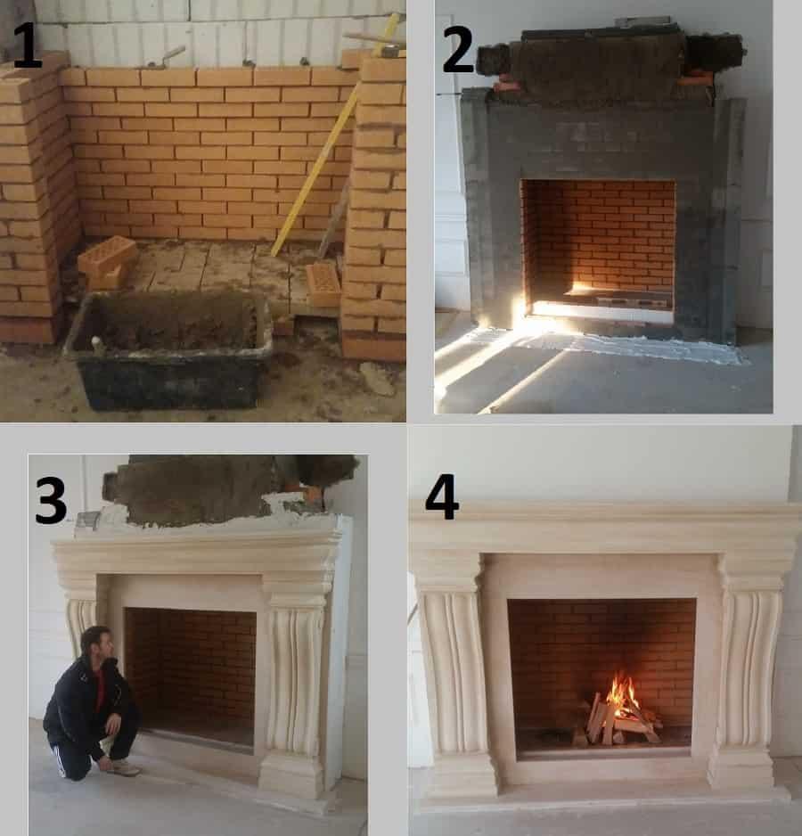 2 etape constructie semineu pe lemne meseriasi sibiu mesteri