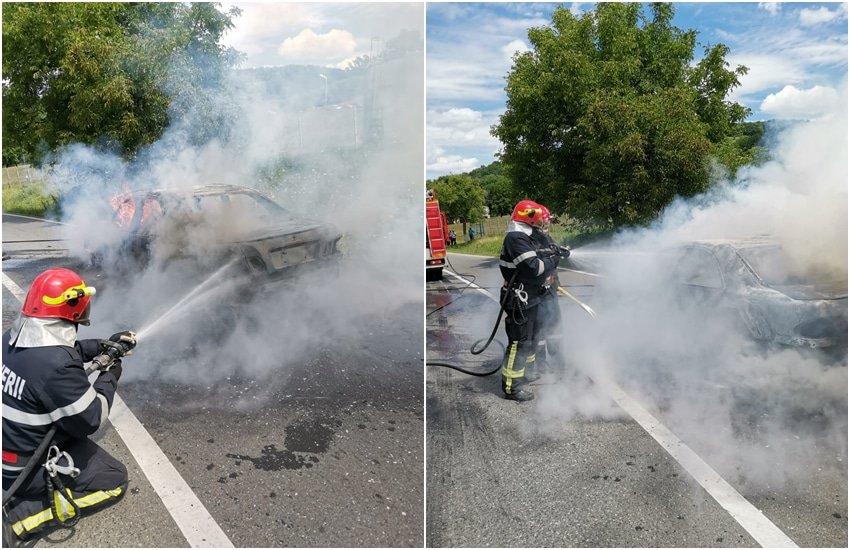 masina incendiu 1