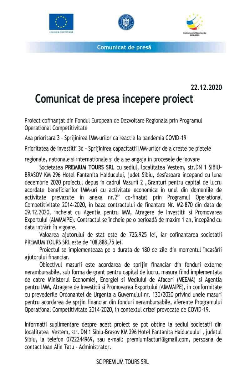 Comunicat de Presa GRANT CAPITAL DE LUCRU MODEL scaled