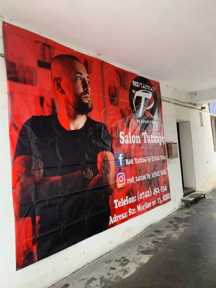 red tattoo banner