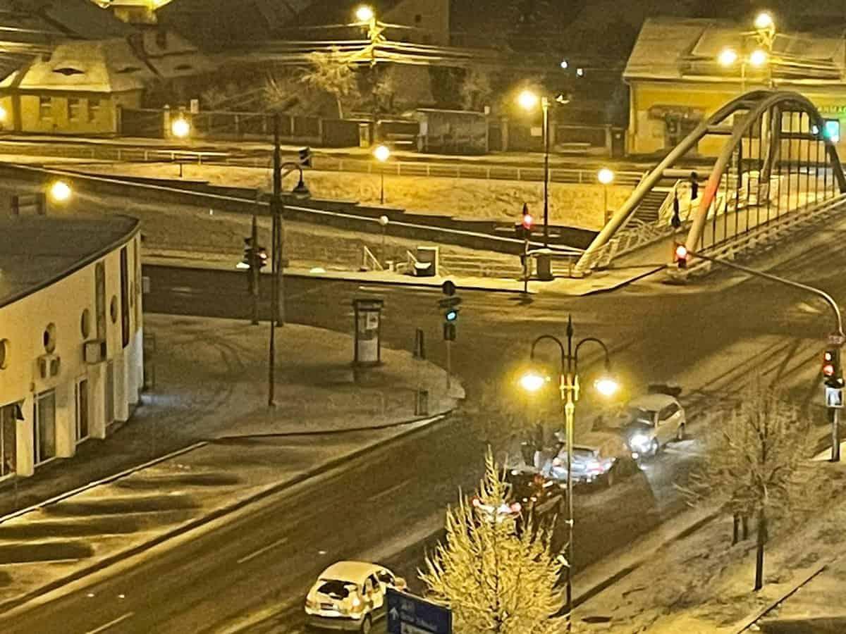 trafic iarna sibiu noaptea 2