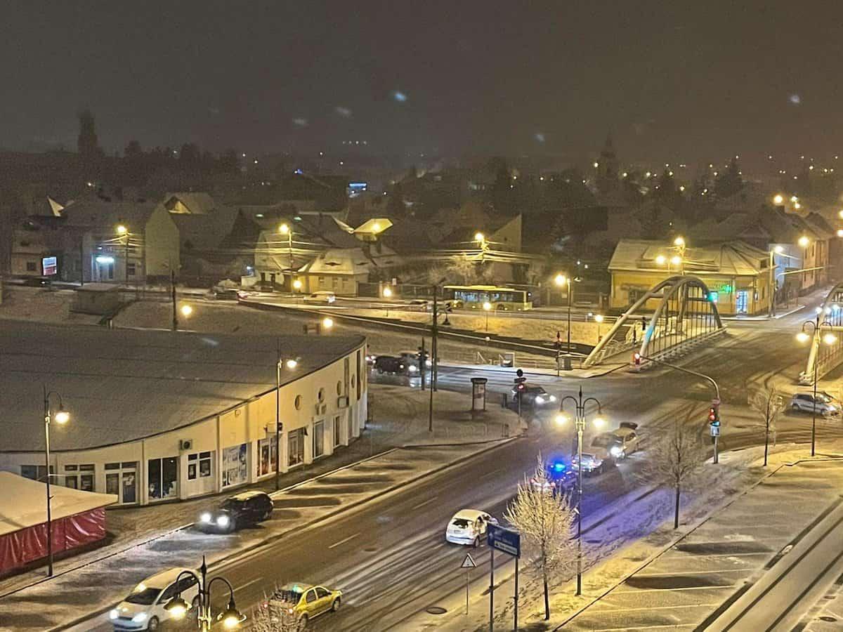 trafic iarna sibiu noaptea 3