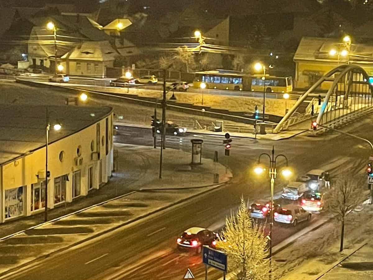 trafic iarna sibiu noaptea 4