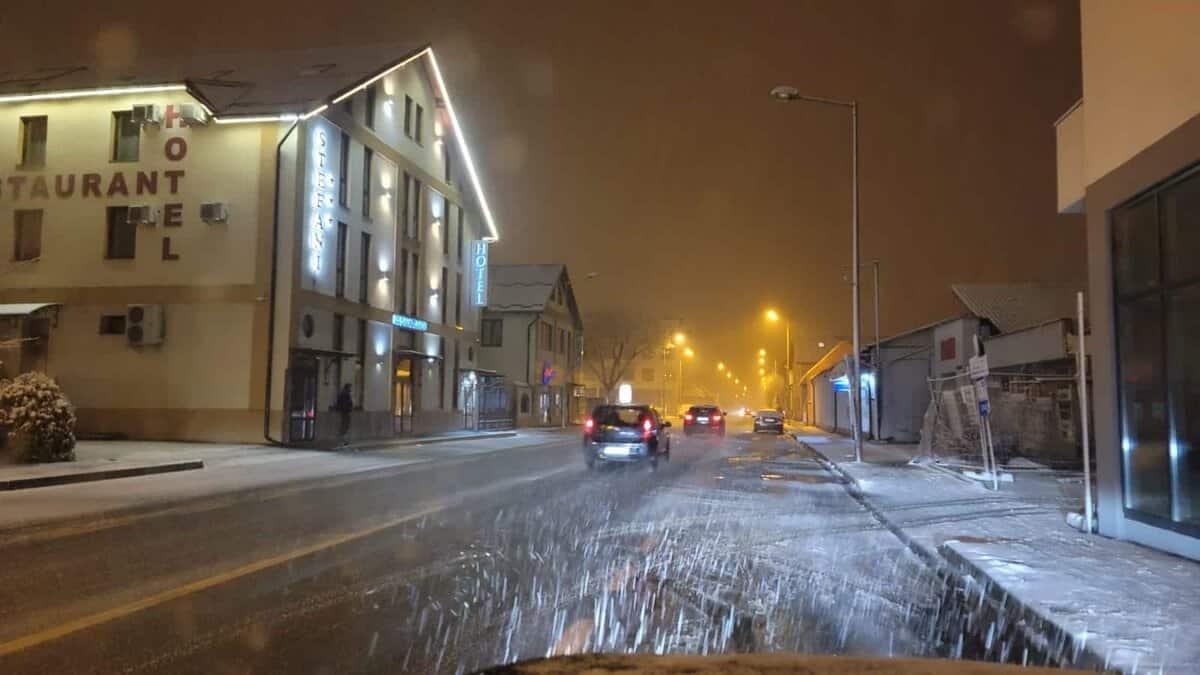 trafic iarna sibiu noaptea 7