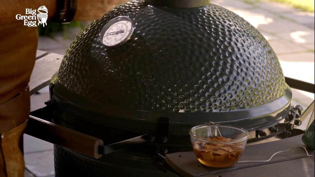 4 gratar ceramic big green egg slow cooker termometru