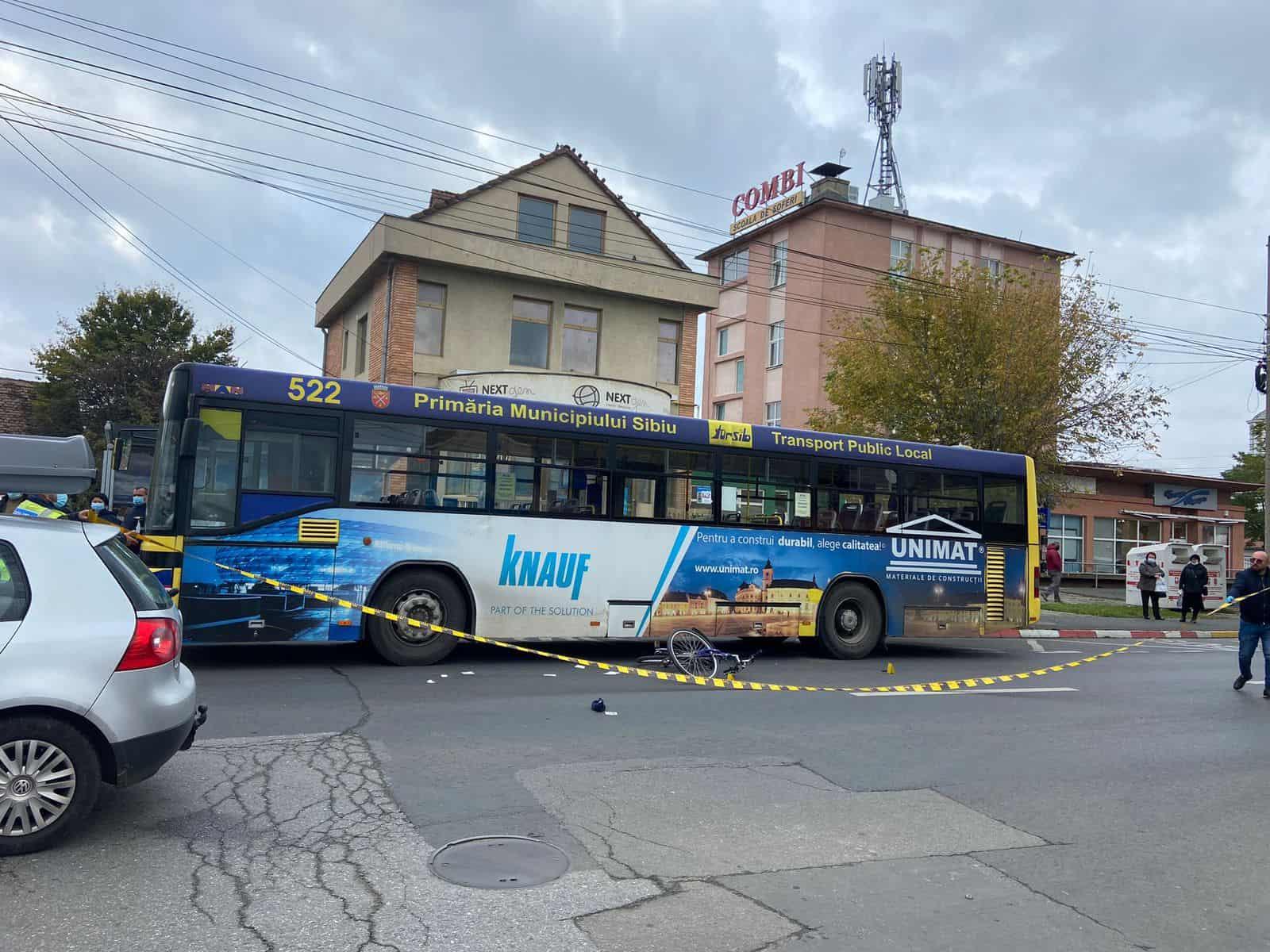 accident autobuz bicicleta